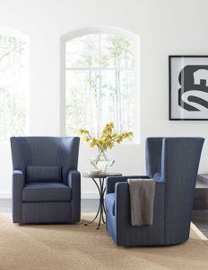 Fitzgerald Swivel Chair by Kincaid Living Room Furniture Chattanooga
