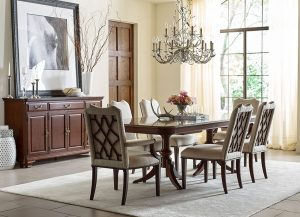 Hadleigh Double Pedestal Table by Kincaid Chattanooga Dining Room Furniture