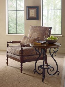 Portolone Round Accent Table with Metal Base by Kincaid Living Room Furniture Chattanooga