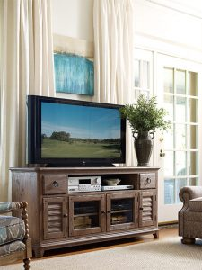 Weatherford Entertainment Console by Kincaid Living Room Furniture Chattanooga