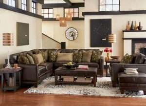 Chattanooga Living Room Furniture sectional leather sofa Flexsteel