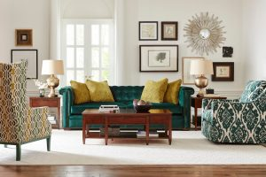 how to decorate with green furniture
