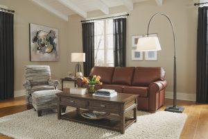 Chattanooga Leather Living Room Furniture Flexsteel