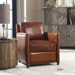 Chattanooga Leather Living Room Furniture Uttermost