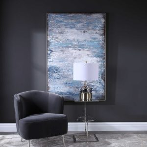 Incorporate the 2020 Pantone Color of the Year, Classic Blue, and transform any interior space with modern wall art.