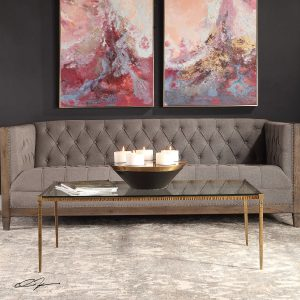 Upgrade your style with this incredible Uttermost glass coffee table from Chattanooga EF Brannon.