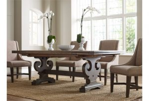 If you entertain often, you should choose a dining room table that is versatile like this Kincaid refractory table.