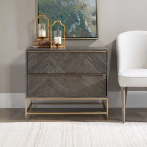 When you are going the DIY interior design route at your Chattanooga home, find pieces like this Uttermost accent table that speak to your personal style.