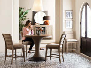 If you're setting up a makeshift home office to work from home, make it comfortable by selecting a comfortable chair, open curtains for great lighting to help keep you productive, and keep a sweater or throw blanket near by in case you get cold.