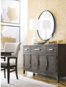 Add a mirror in your Chattanooga dining room space as a chic alternative to artwork.