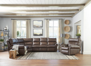 Another great power reclining sofa for your Chattanooga living room is the Omnia Leather Conner.