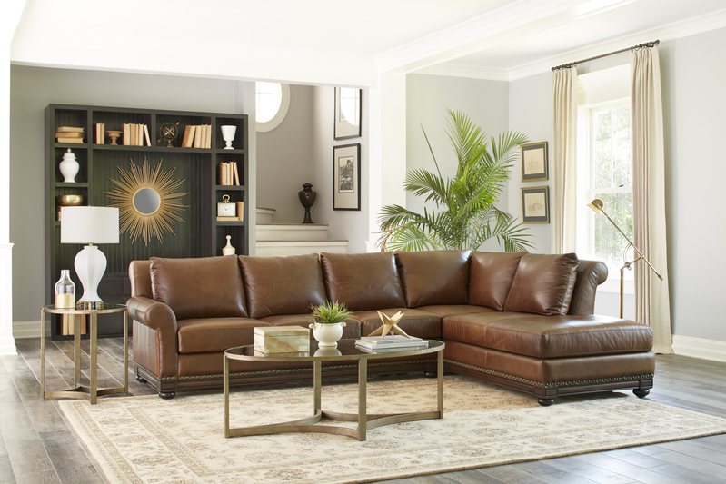 Leather is another great way to add style to your greyed out Chattanooga interior design. Get beautiful Omnia Leather pieces from EF Brannon.