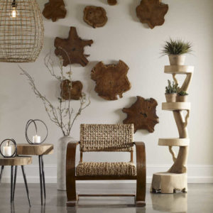 Add organic style and texture to your wall decor with these sliced wood pieces from Uttermost furniture, and level up your Chattanooga interior design.