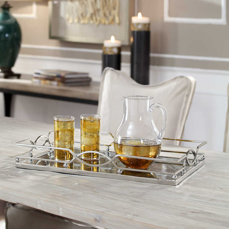 Add interest to your Chattanooga interiors with decorative trays like this one from Uttermost. Pieces like these bring style and function to a space.