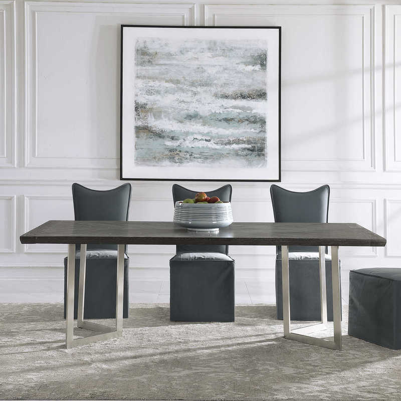 The Herringbone table by Uttermost is a great addition to any Chattanooga dining room.