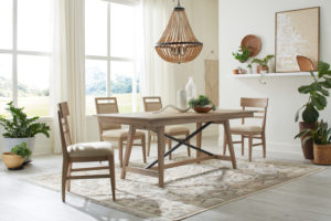 This Kincaid table from the Nook collection will bring edgy industrial vibes to your Chattanooga dining room.