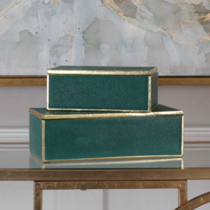 Decorative boxes, like these by Uttermost, also serve as a great way to add intrigue to your Chattanooga interiors.