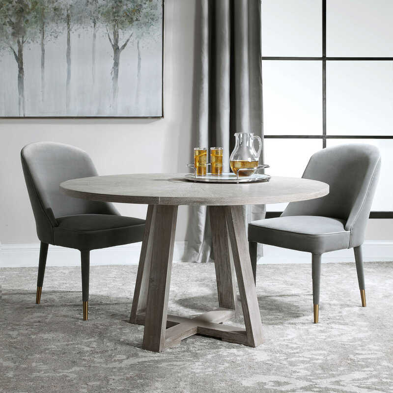 This Gidran table by Uttermost proves that sleek and simple can make a statement too in your Chattanooga dining room.