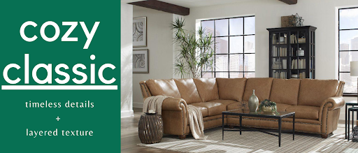 Take your Chattanooga interior design in a cozy classic direction with pieces like this sofa from Omnia Leather.