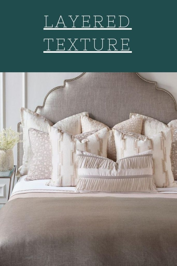 Layered textures as seen on this Eastern Accents bed, give your Chattanooga bedroom furniture a designer look.