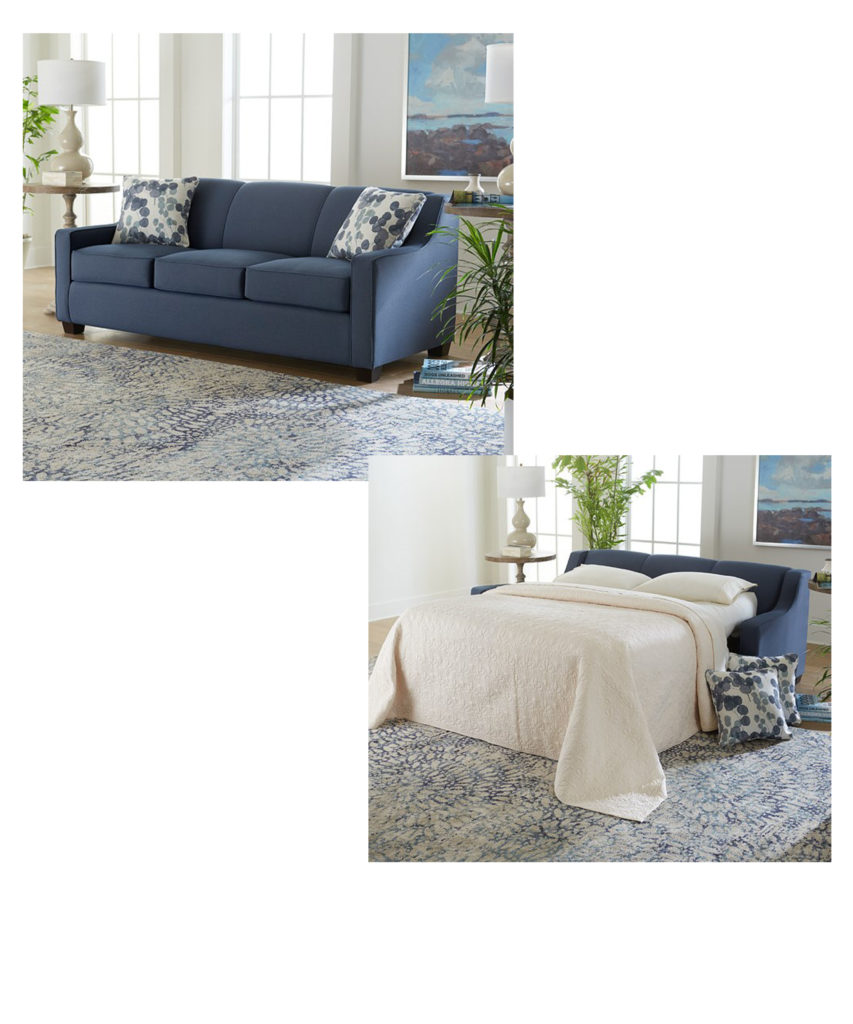 Sleeper sofas like this one can help add function to your Chattanooga living room.
