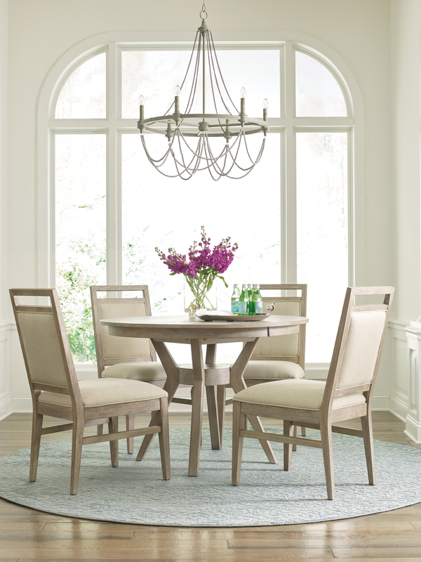 If refined style is what you're after in your Chattanooga dining room set, the Nook table by Kincaid may be just right for you.