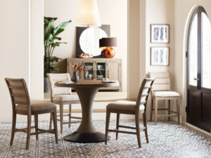 This Kincaid Lindale table and chairs lend themselves well to coffee or cocktail hour– and just might be the perfect counter-height option for your Chattanooga dining room set.
