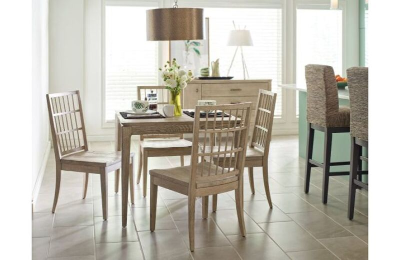 "If what you want in a Chattanooga dining room set is versatility, this Summit table by Kincaid may be just right with it's 20"" leaf, clean lines, and roomy stance."