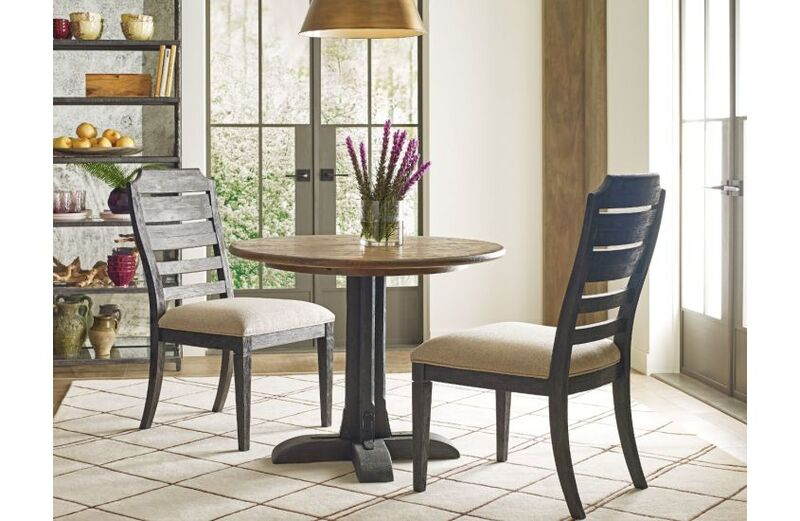 The Franklin table by Kincaid can lend a fun cabin feel for your Chattanooga dining room set.