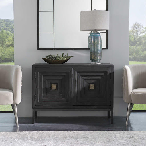 Add a bookshelf like this piece by Hammary to your hallway to add function to your Chattanooga interiors.