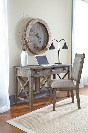 Pieces like this low-profile desk by Kincaid can help transform your hallway into a functional space for your Chattanooga interiors.