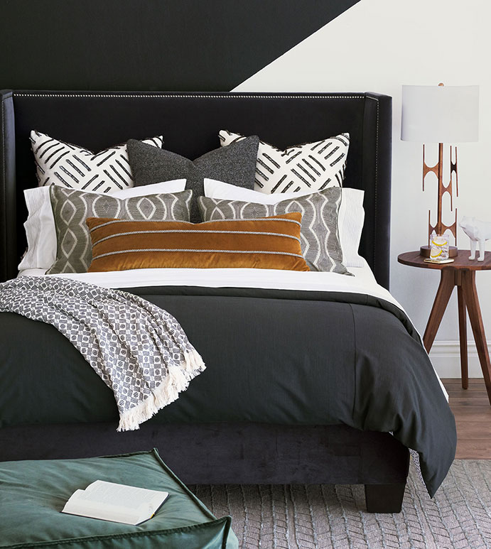 Lux fabrics in rich, warm colors instantly bring fall into your Chattanooga interior design.