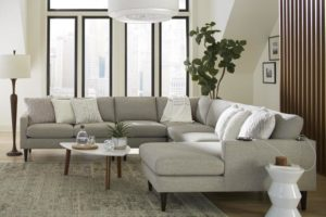 This Best Home Furnishings sectional features USB ports for the best in functional furniture.