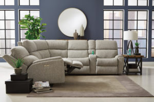 Flexsteel brings functional furniture to a new level with this sectional.