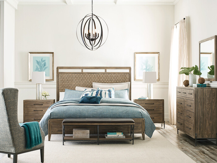 Add functional furniture to your bedroom with this Kincaid bench at the foot of the bed.