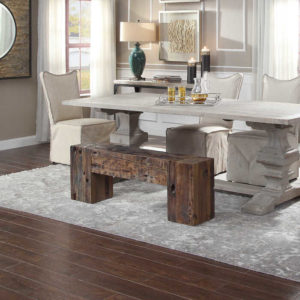 Jazz up your dining room seating with this functional furniture piece by Uttermost.