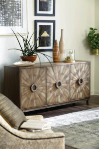 This entertainment console by Hammary adds the perfect touch for home decor in any room of the house.