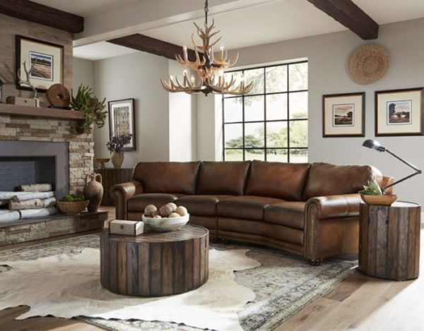 leather sofa from Omnia Leather is the perfect living room furniture piece to gather with friends and family