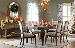 This dining room set up by Kincaid is perfect for decorating with holiday accent pieces