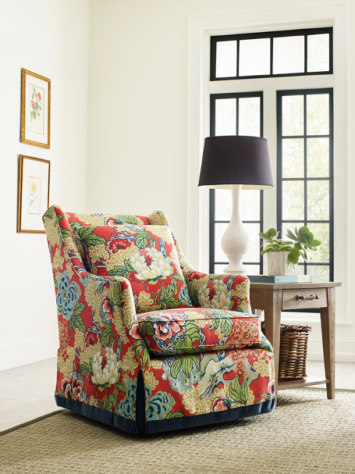 Floral chair from Kincaid is a nice modern decor piece for the home.