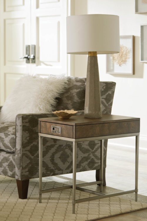 Home interior chariside table by Hammary adds new look for the near year.