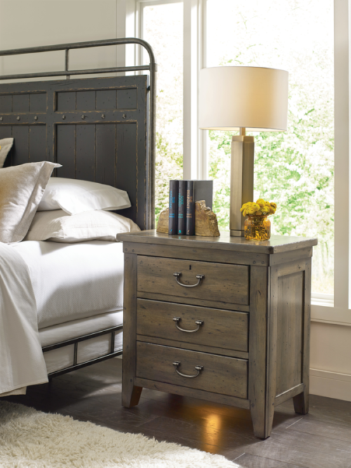 This rustic nightstand by Kincaid will give your bedroom that new year home interior look you are wanting.