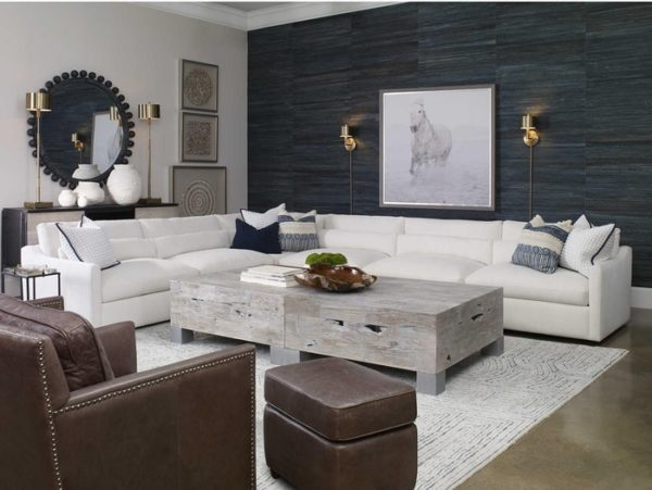 Slope sofa y Uttermost brings a fresh look for a living room makeover