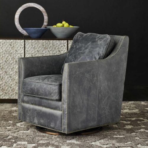 Decor pieces by Kincaid showcasing a swivel rocking chair perfect for any room in the house.