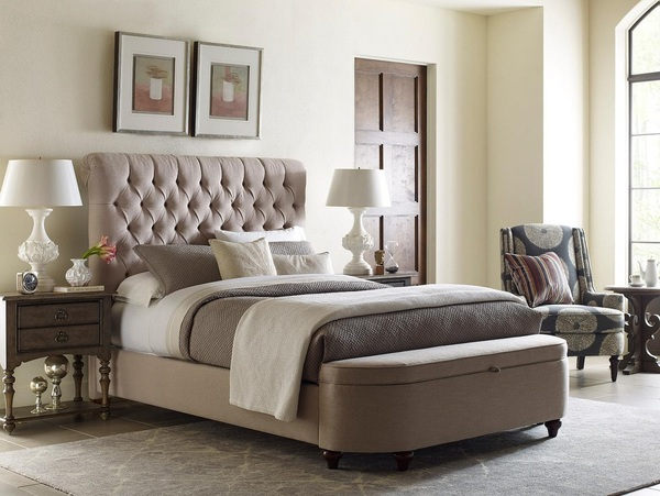Storage footboard by Kincaid is the perfect bedroom furniture piece for small spaces