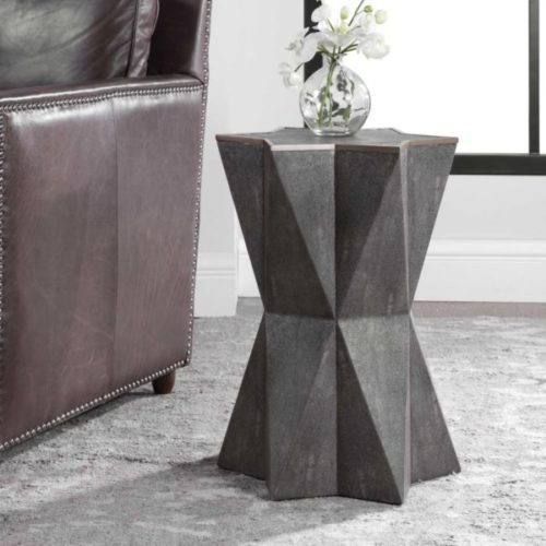 Beautiful grey furniture end table piece by Uttermost