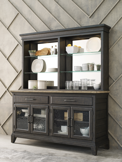 Dark colored dining room storage cabinet by Kincaid