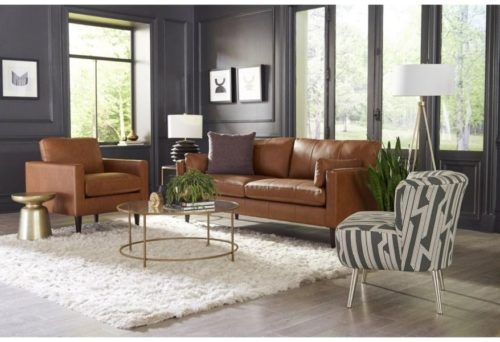 Living room sofa by Best Home Furnishings for a moody home design