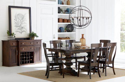 American handmade home furniture dining room set.