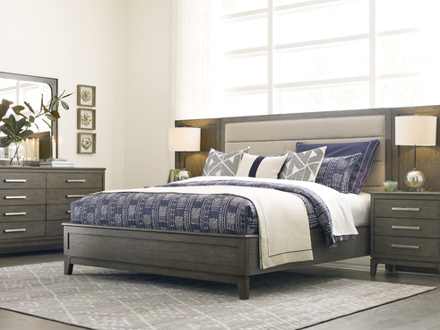 a bed and bedding showcasing bedroom decor for a relaxing space